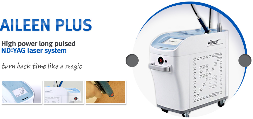 AILEEN PLUS High power long puked ND:YAG laser system turn back time like a magic